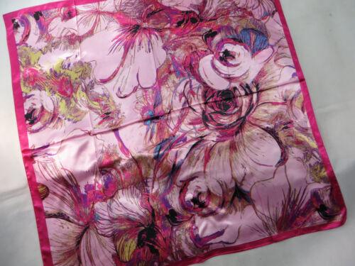 "lot of 5 floral retro bohemian large satin square scarf 39/""x39/"""