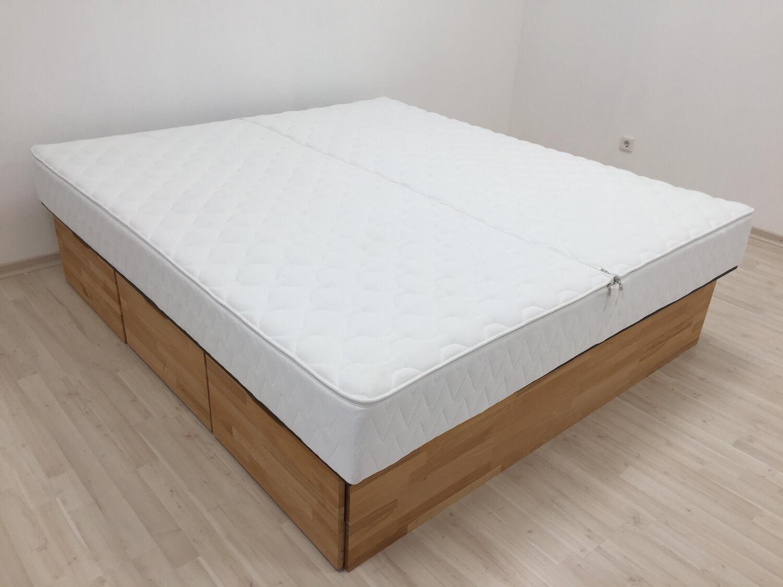 Premium Wasserbett-Auflage Wasserbett-Bezug 20 - 22 cm Classic   10 cm Split