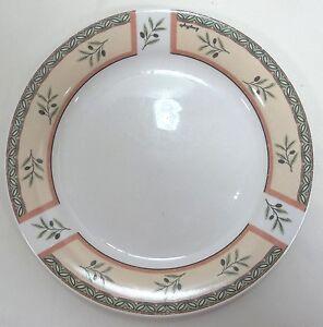 Image is loading Oneida-Dinner-Plate-Tuscan-Olive-Off-White-Olive- & Oneida Dinner Plate Tuscan Olive Off-White Olive Design Stoneware | eBay