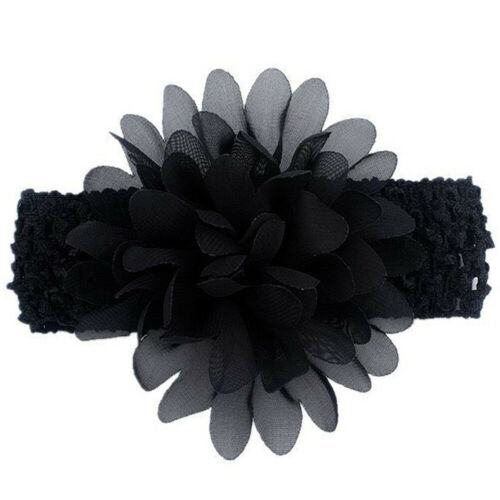 1pc Chiffon Flower Knit Headband Hairband For Baby Kids Girls Hair Accessories