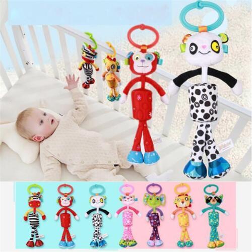 Baby Pram Bed Bells Soft Hanging Toy Animal Handbells Infant Newborn Rattle SI