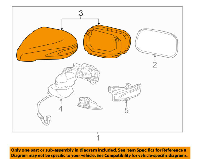 s l640 lexus toyota oem hs250h door side rear view mirror cover right