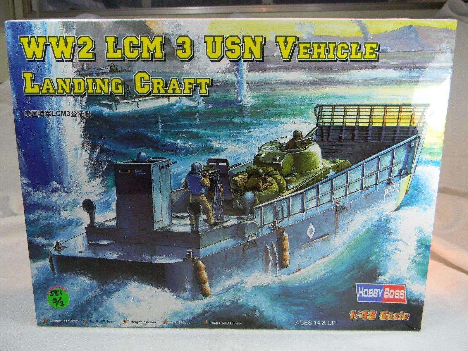 88817 trumpetare USN LCM -3 Fordonsfkonstyg Landing Plastic Statisc 1  48 modelllllerlerl Kit