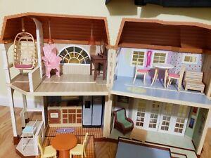 Disney Hannah Montana Malibu Beach House Barbie Doll house used | eBay
