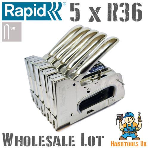 5 x rapide R36 main câble agrafeuse agrafeuse pour gros