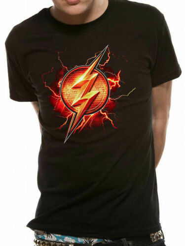 Official DC Justice League Movie THE FLASH Symbol Unisex T-Shirt Tee S-XXL NEW