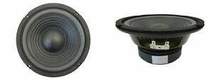 NEW-2-6-5-034-Woofer-Speakers-Replacement-4-ohm-Car-amp-home-Audio-6-1-2-034-Pair-CS
