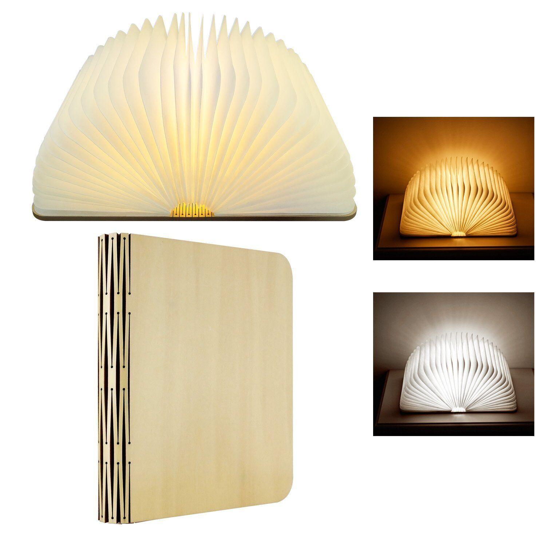 Led nachtlicht wiederaufladbaren holz - buch - lampe, skst buch lesen 2 geformt