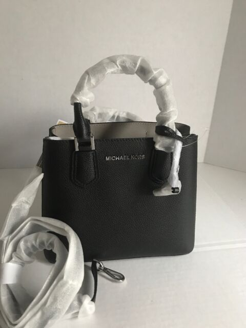 Michael Kors Adele Medium Messenger Satchel Crossbody Handbag Black