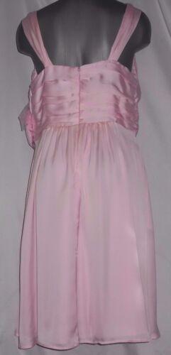 Tevolio Size 4 Pink V Neck Tea Length Prom Evening Bridesmaid Dress Pockets New