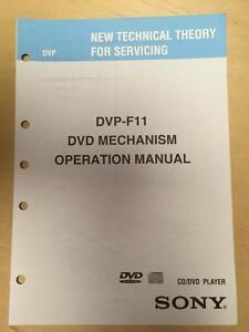 sony operation manual dvp f11 mechanism cd dvd player technical rh ebay com sony operation manual for model xbr65x850d sony operator manual icf c1t