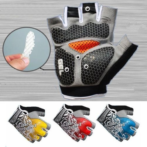 Road Mountain Bicycle Cycling Silicone GEL Half Finger Gloves Anti Skid MTB Bike