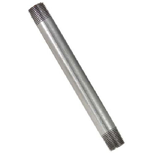"1//2/"" x 9/"" GALVANIZED STEEL PIPE NIPPLE"