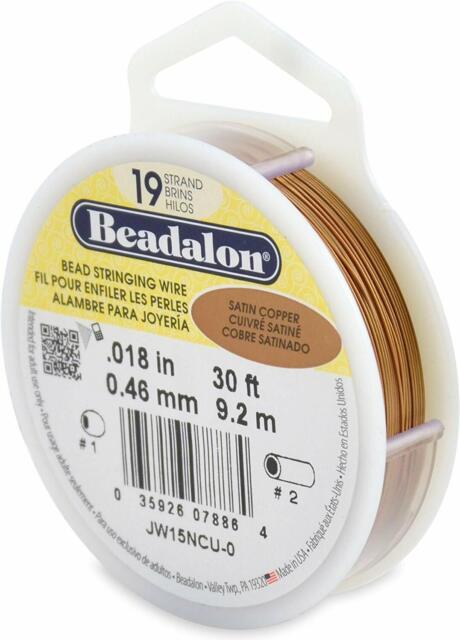 Beadalon 9.2m Reel 0.46 mm Diameter 7 Strand Wire Silver//Gold