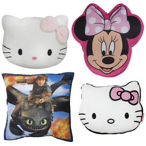 kinder kissen hello kitty drachen super mario minnie mouse sam kuschelkissen neu ebay. Black Bedroom Furniture Sets. Home Design Ideas