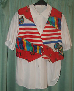 LOVELY-Blouse-with-sea-motif-size-12-Check-the-exact-size-in-description