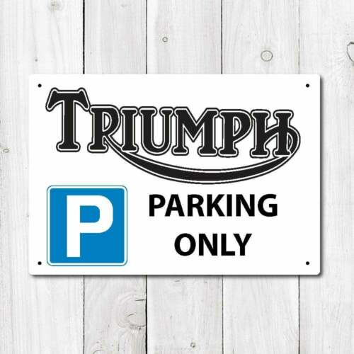 Wall Chimp Triumph Parking Only Metal Sign
