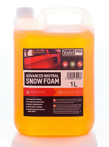 valet pro advanced neutral snow foam pre wash shampoo. Black Bedroom Furniture Sets. Home Design Ideas