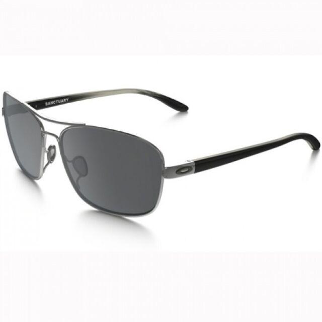 e6899648d9 Auth Oakley Sanctuary Silver Frame Black Lens Women Sunglasses 4116 ...