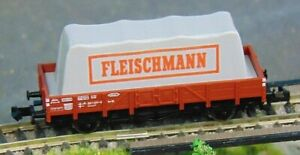 "AgréAble Fleischmann 8211 Db Low Sided Wagon With Covered Load ""boxed"" N Gauge (f218) Construction Robuste"