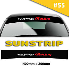 Sunstrip VW  Racing  Car Stickers Decal Graphics Windscreen Stripes