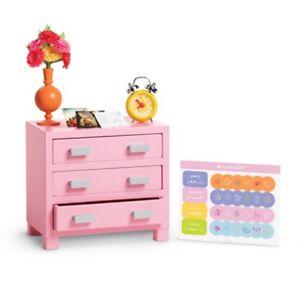 American Girl My Ag Bouquet Nightstand For Dolls Table Dresser Bedroom Retired Ebay