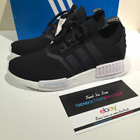 ADIDAS NMD R1 PK US UK 7 8 8.5 9 10 11 PRIMEKNIT MONOCHROME BLACK WHITE BA8629