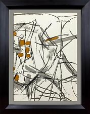 Jean-Paul RIOPELLE Original COLOR Lithograph LIMITED Ed. + Custom FRAME