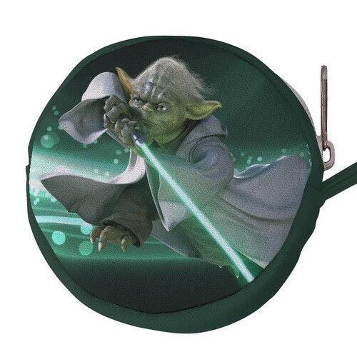 Yoda Canvas Mini Circular Wallet Coin Purse p77 w0081