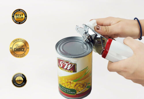 2 Pack Smooth Edge Can Opener Ergonomic Handle Professional Stainless Steel