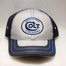 Official Colt Firearms Baseball Cap Black, Blue Embroidered Colt Logo, Palmer