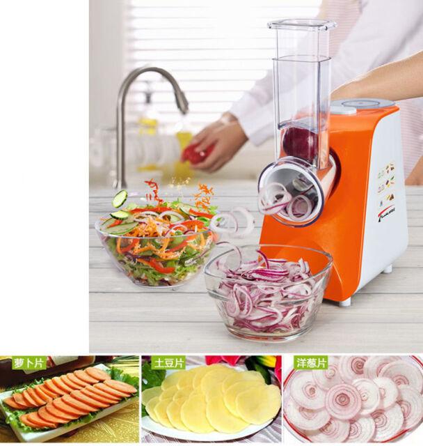 Electric Salad Master Food Processor Vegetable Cutter Spiralizer Veggie Slicer