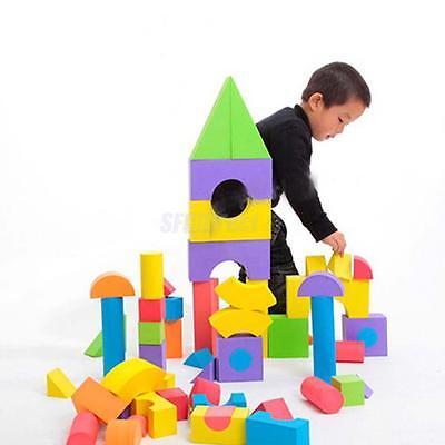 48Piece Colorful EVA Foam Building Blocks Bricks Set Kids Children Soft Toy Gift