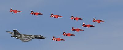 Vulcan Bomber And Red Arrows At Fairford RIAT 2015 A3 Photo Poster Print 168-04