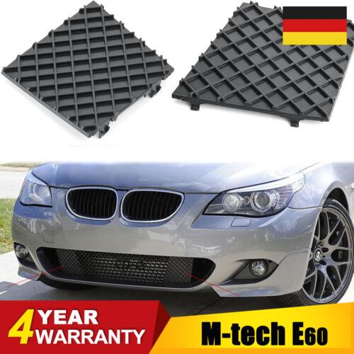 ORIGINAL PAAR BMW E60 E61 M PAKET GITTER GRILL BLENDE VORNE STOßSTANGE M-TECH