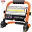 100W LED Rechargeable Cordless Work Site Floodlight Mobile Portable Camping Lamp