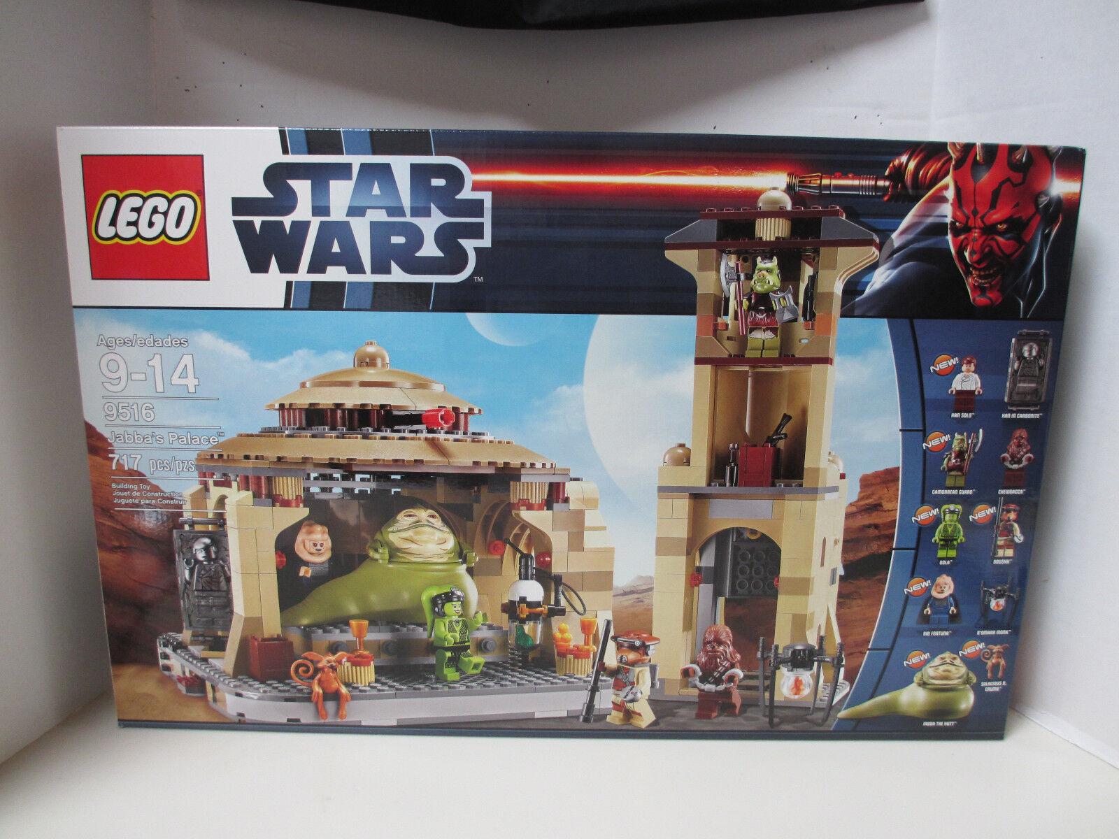 Nuevo En Caja Juego De 2012 Star Wars Lego 9516 Jabba's Palace con Bib Fortuna, Boushh, oola