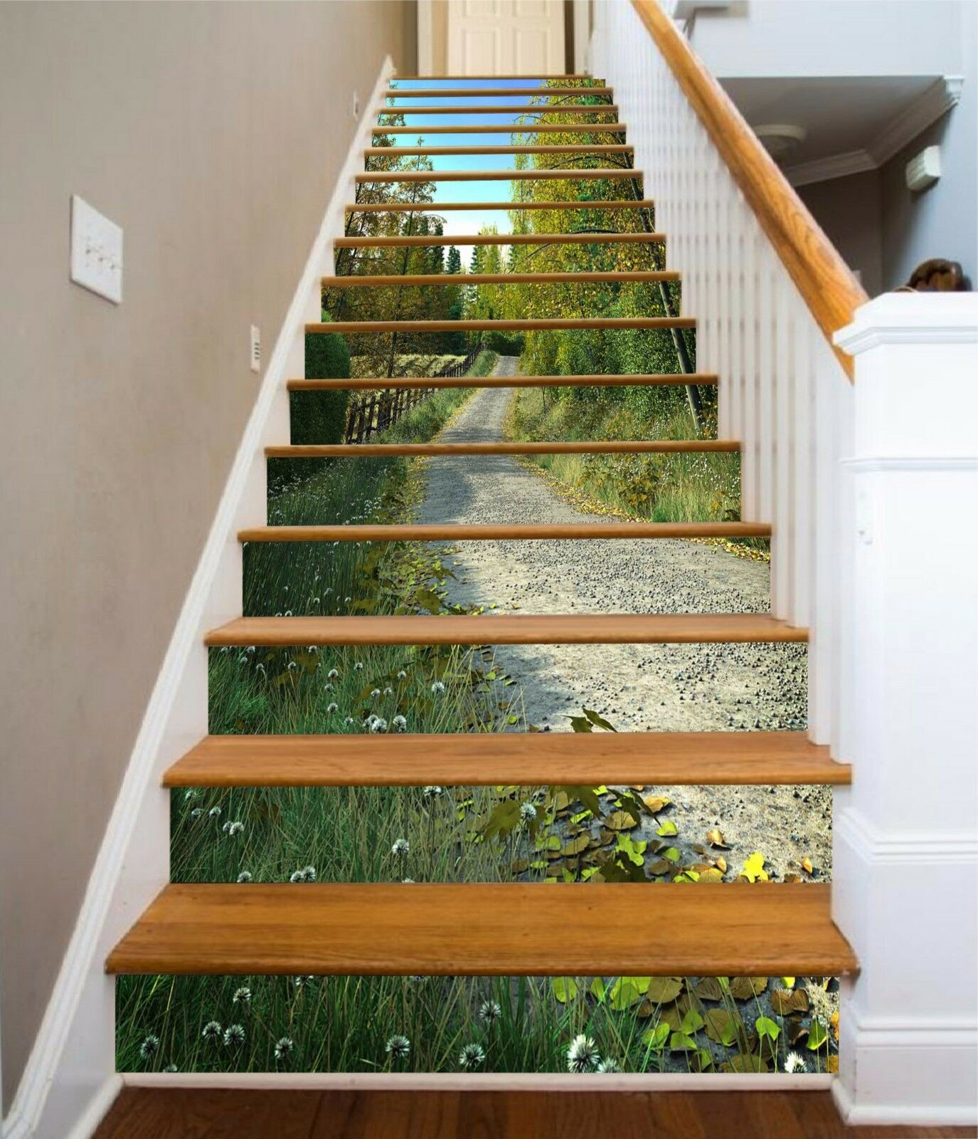 3D Grass Path 563 Stair Risers Decoration Photo Mural Vinyl Decal Wallpaper AU