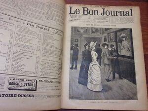 reliures-LE-BON-JOURNAL-1890-1891-relie-revue-litteraire-litterature-populaire