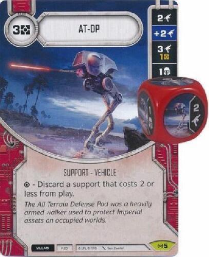 Empire at War 5 Star Wars Destiny  NM W// DICE Rare AT-DP