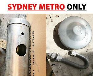 Details about 6 5m 100mm NB Temporary Galvanised Steel Power Private  Service Pole Mains Street