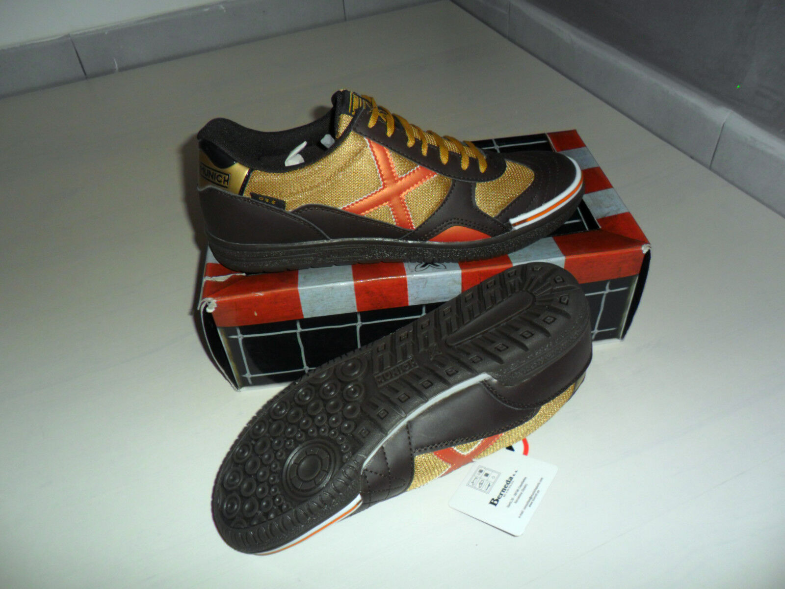 M49 munich gresca g-3, 5 chaussures nr. 44 football indoor sala soccer five
