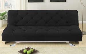 Divano Nero Cuscini : Divano letto 3 posti reclinabile salotto microfibra nero sofa