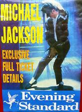 MICHAEL JACKSON Poster LONDON TOUR 1987 Newspaper Promo Only Evening Standard