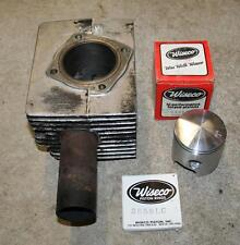 Used OEM STD Right Cylinder & New Wiseco Piston for Rotax 440 1971-73 Vintage