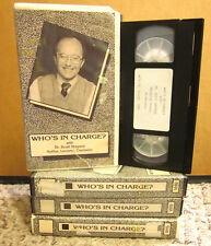 WHO'S IN CHARGE counseling Dr. Scott Sheperd self-help Managing Stress 4-VHS set