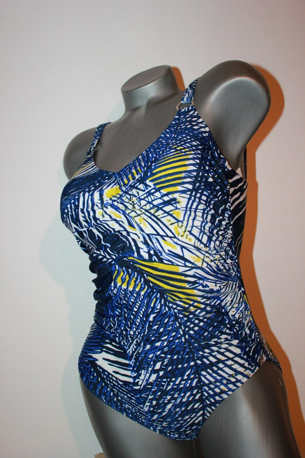 TRIUMPH Costume Costume Costume da bagno Palm Charm op 02 tg. 38 B blu scuro con motivo SENZA STAFFA 8ba423