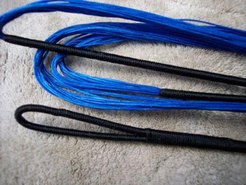 """Bow String-BLEU POUR 62/"""" Amo recourbé-longueur réelle 58/"""" Bowstring-Boucle Sans Fin."""