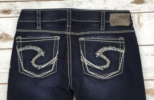 Womens Silver Jeans Low Rise Tuesday Bootcut Stretch Jean 26 30 31 PLUS 18 16