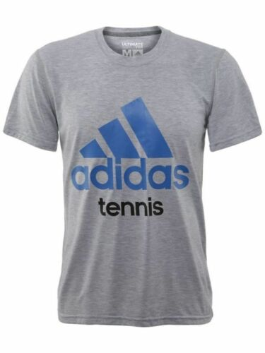 New Men's Adidas Tennis Graphic Grey Ultimate T Shirt Size Sz S